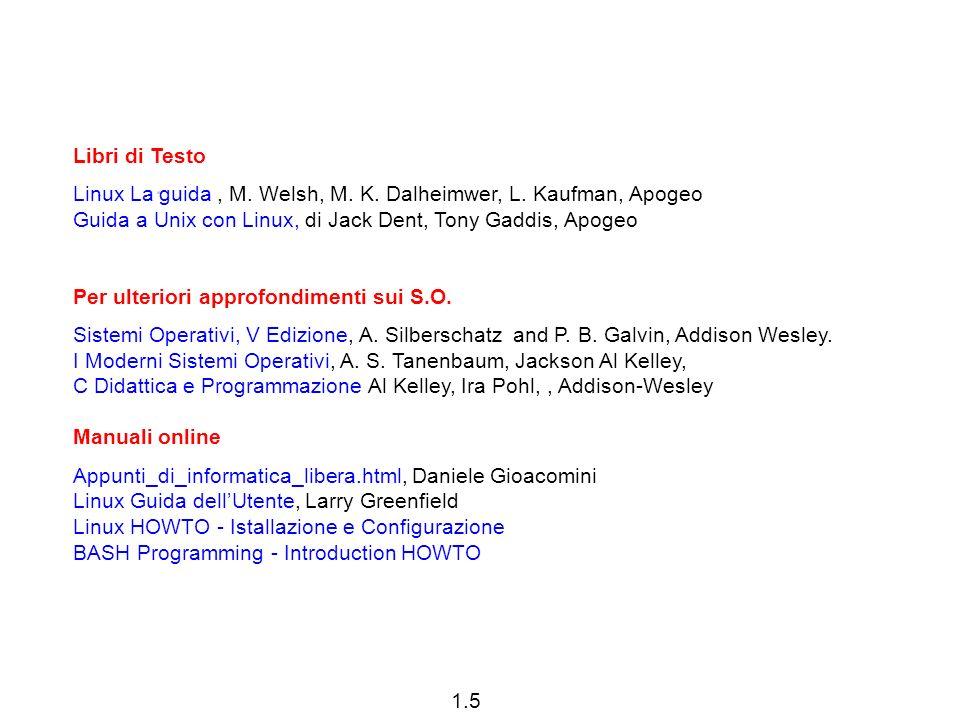 1.5 Libri di Testo Linux La guida, M. Welsh, M. K.