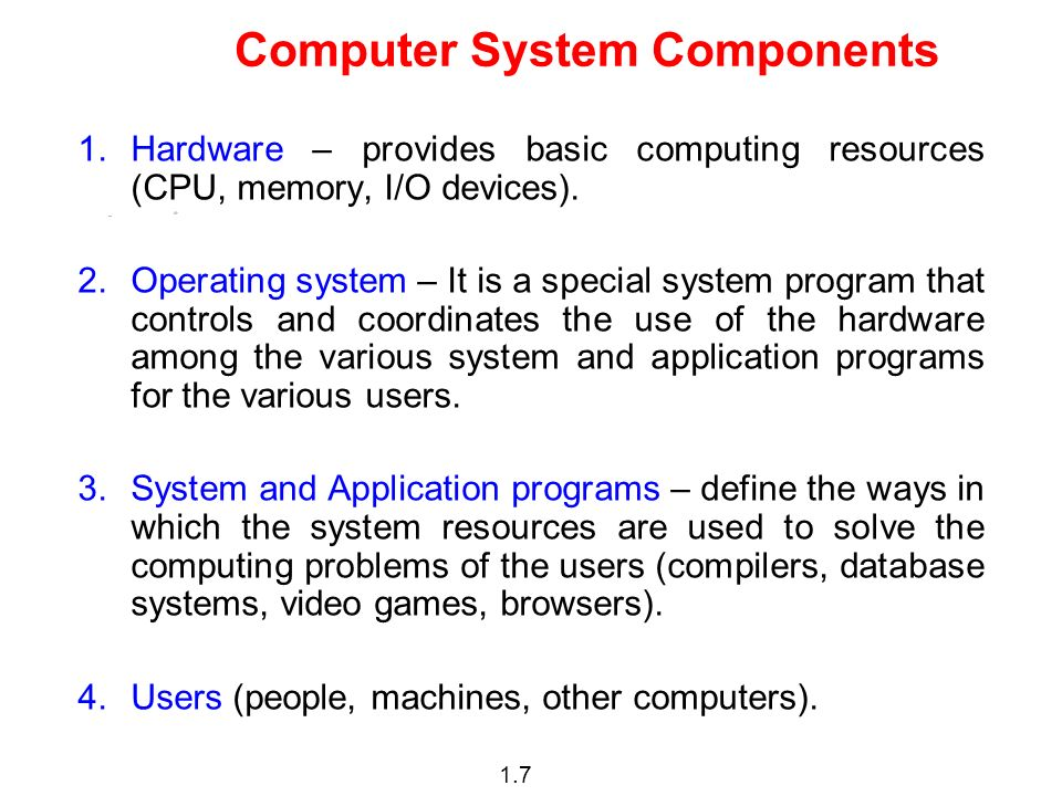 1.8 Abstract View of System Components