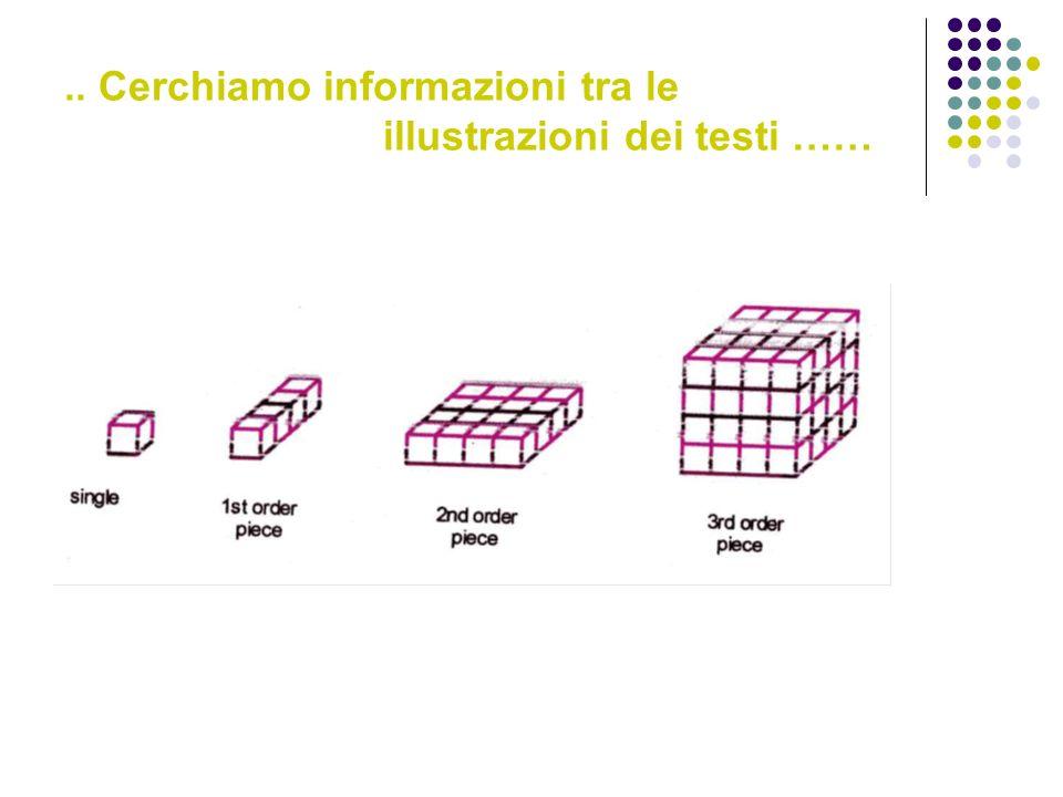 .. Cerchiamo informazioni tra le illustrazioni dei testi ……
