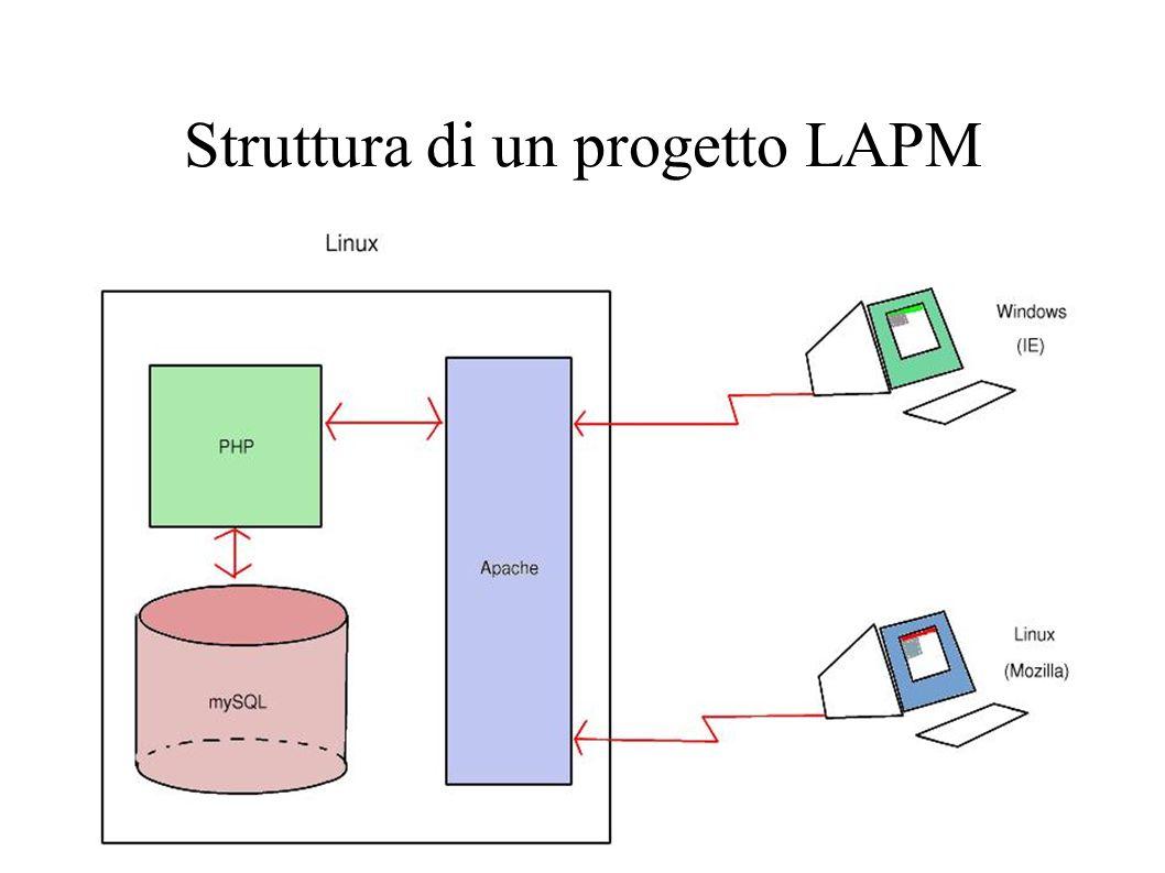 Struttura di un progetto LAPM