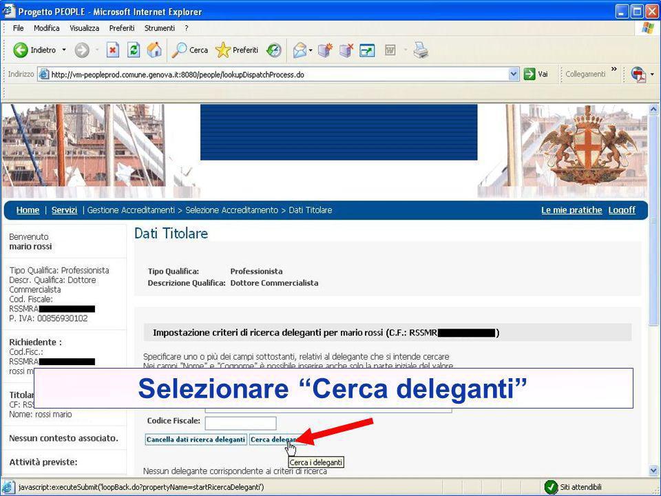 Per effettuare altre istanze come intermediario per lo stesso delegante, selezionare nuovamente tributi Per agire come intermediario di un altro delegante chiudere e riaprire il browser e ripetere i passaggi