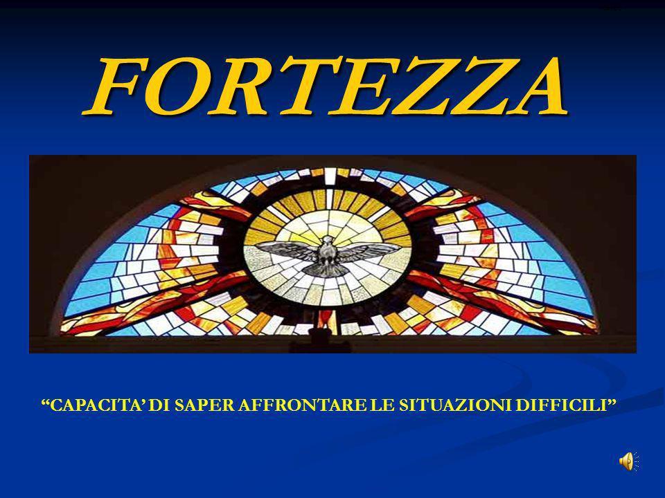 FORTEZZA CAPACITA DI SAPER AFFRONTARE LE SITUAZIONI DIFFICILI ritardo