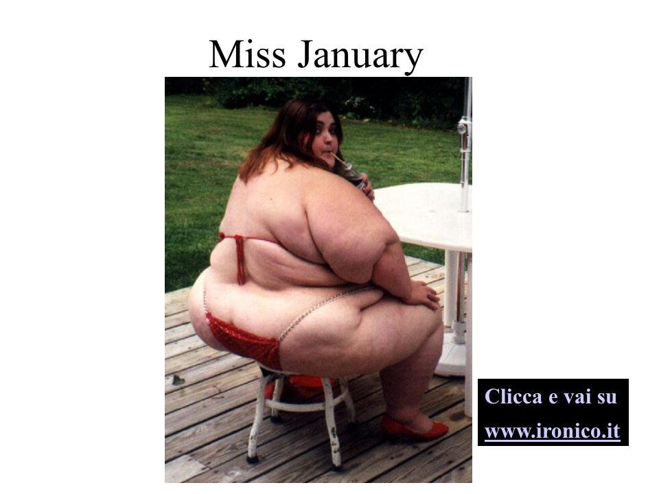 Miss December Clicca e vai su www.ironico.it