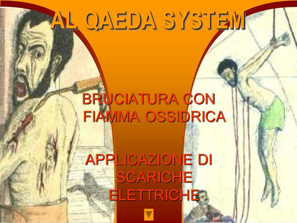 BRUCIATURA CON FIAMMA OSSIDRICA APPLICAZIONE DI SCARICHE ELETTRICHE AL QAEDA SYSTEM AL QAEDA SYSTEM