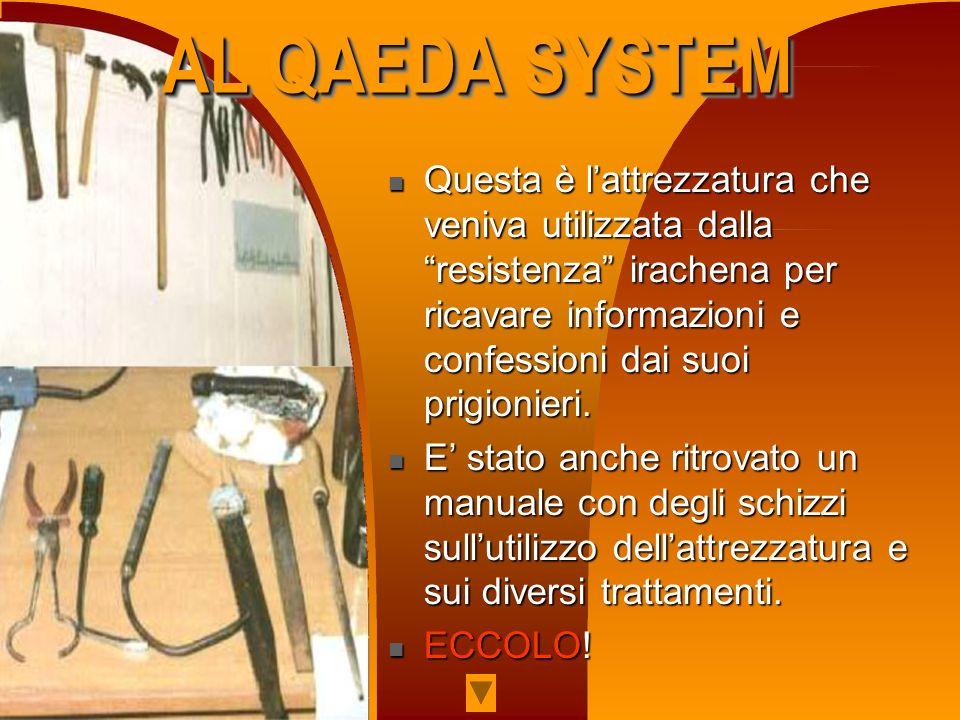 TRAPANAZIONE DELLA MANO AMPUTAZIONE DELLA MANO AL QAEDA SYSTEM AL QAEDA SYSTEM