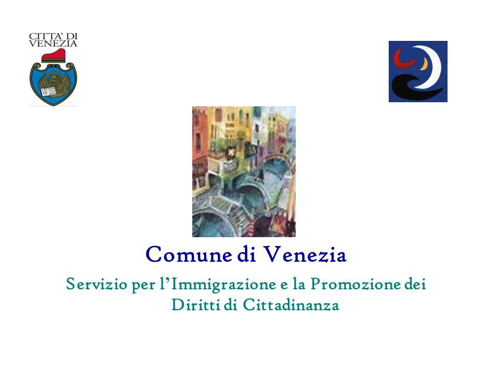 Comune di Venezia Servizio per l Immigrazione e la Promozione dei Diritti di Cittadinanza