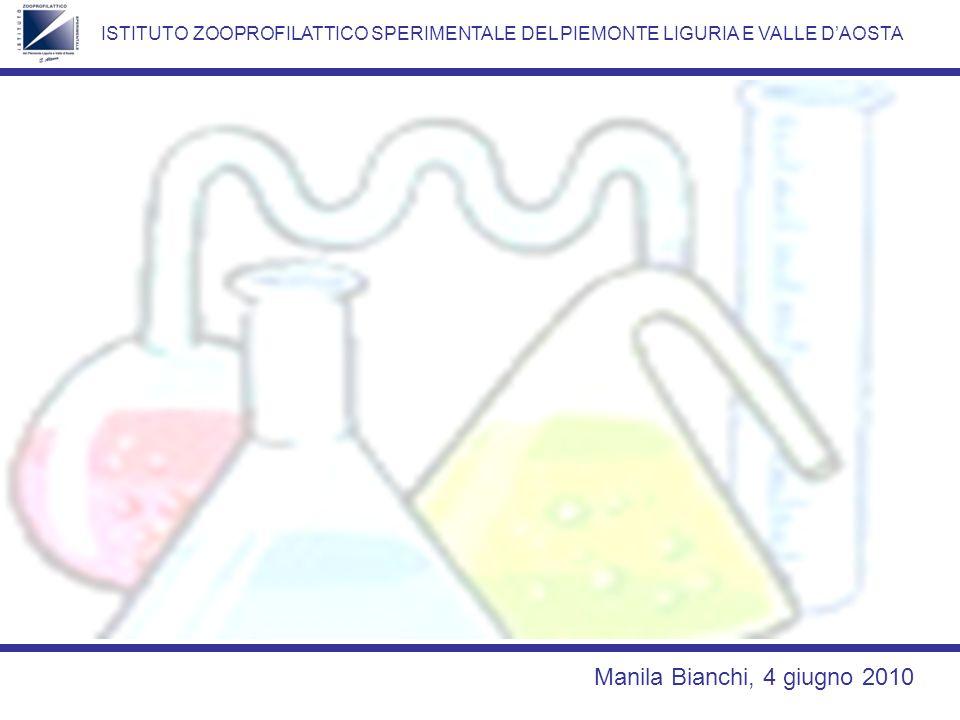 ISTITUTO ZOOPROFILATTICO SPERIMENTALE DEL PIEMONTE LIGURIA E VALLE DAOSTA Manila Bianchi, 4 giugno 2010