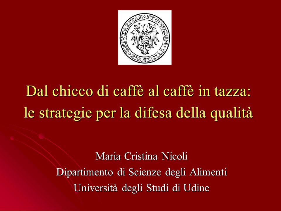 Dal chicco di caffè al caffè in tazza: le strategie per la difesa della qualità Maria Cristina Nicoli Dipartimento di Scienze degli Alimenti Università degli Studi di Udine