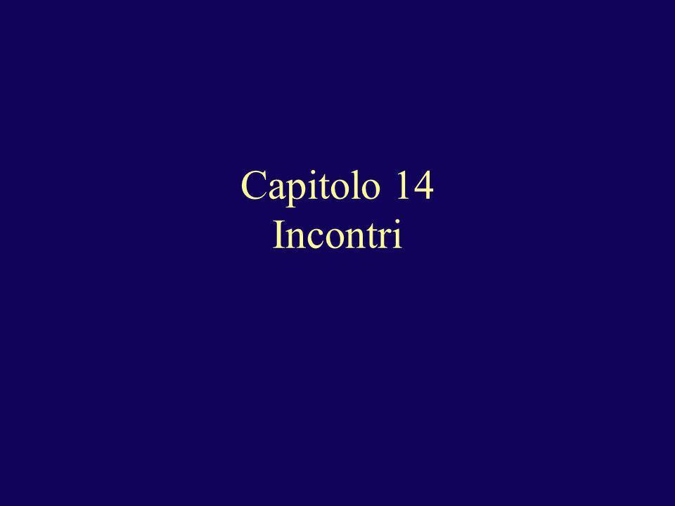 Capitolo 14 Incontri