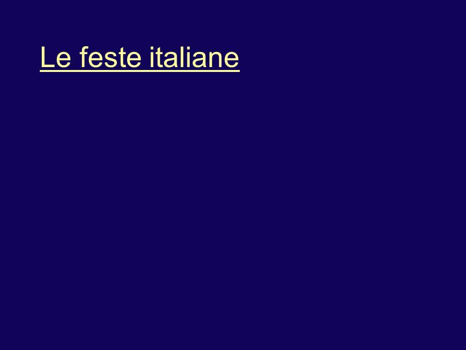 Le feste italiane