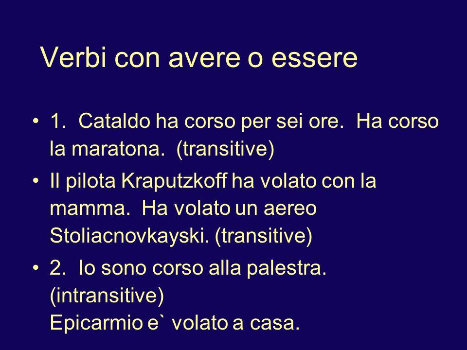 Verbi con avere o essere Answer using Passato prossimo (I already did it: gia`) : Attenzione: ESSERE.