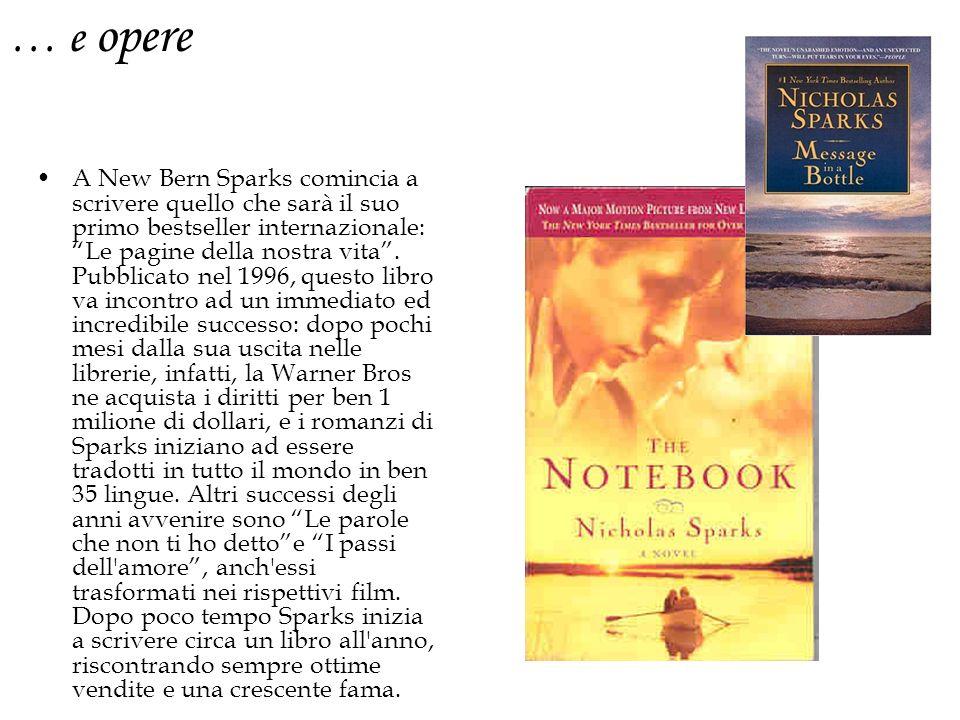 A New Bern Sparks comincia a scrivere quello che sarà il suo primo bestseller internazionale: Le pagine della nostra vita.