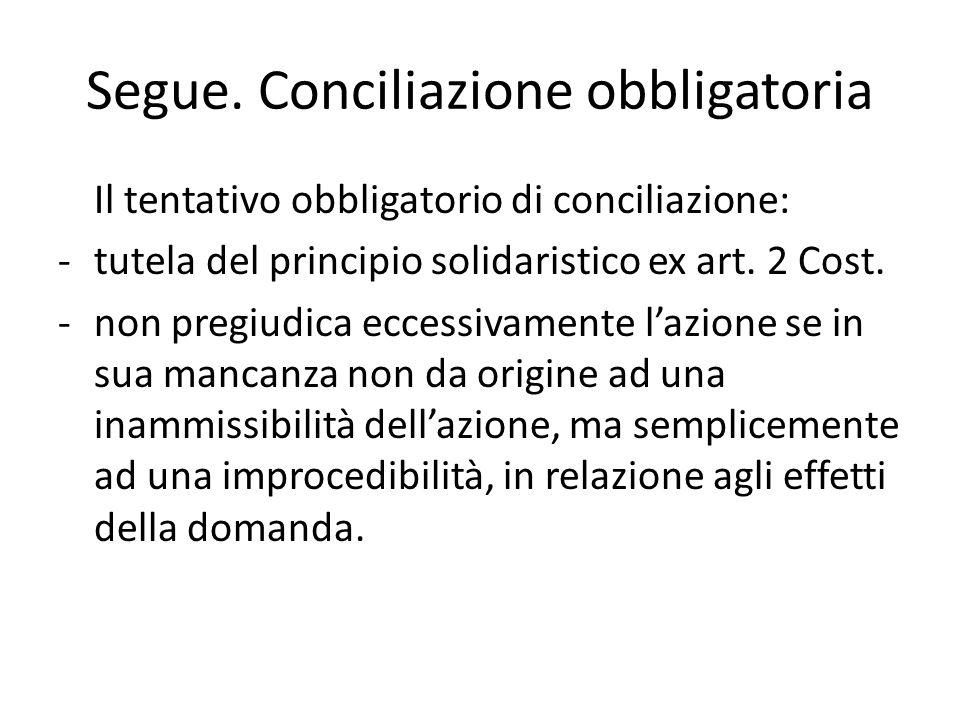 d lgs n.28 del 2010 Soluzione costituzionalmente corretta (art.