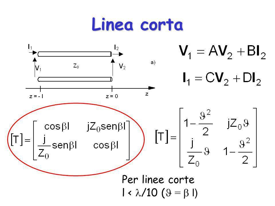 Linea corta Per linee corte l < /10 ( = l)