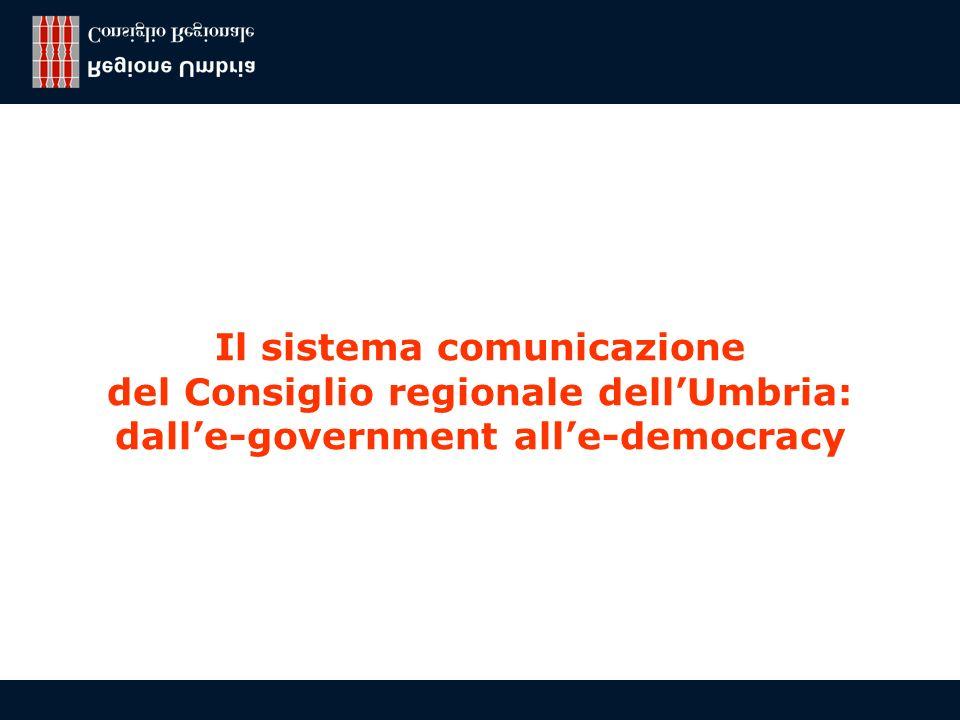 Franco Todini, Regione Umbria - Consiglio regionale 8 Obiettivo: condivisione della conoscenza Back office Front office