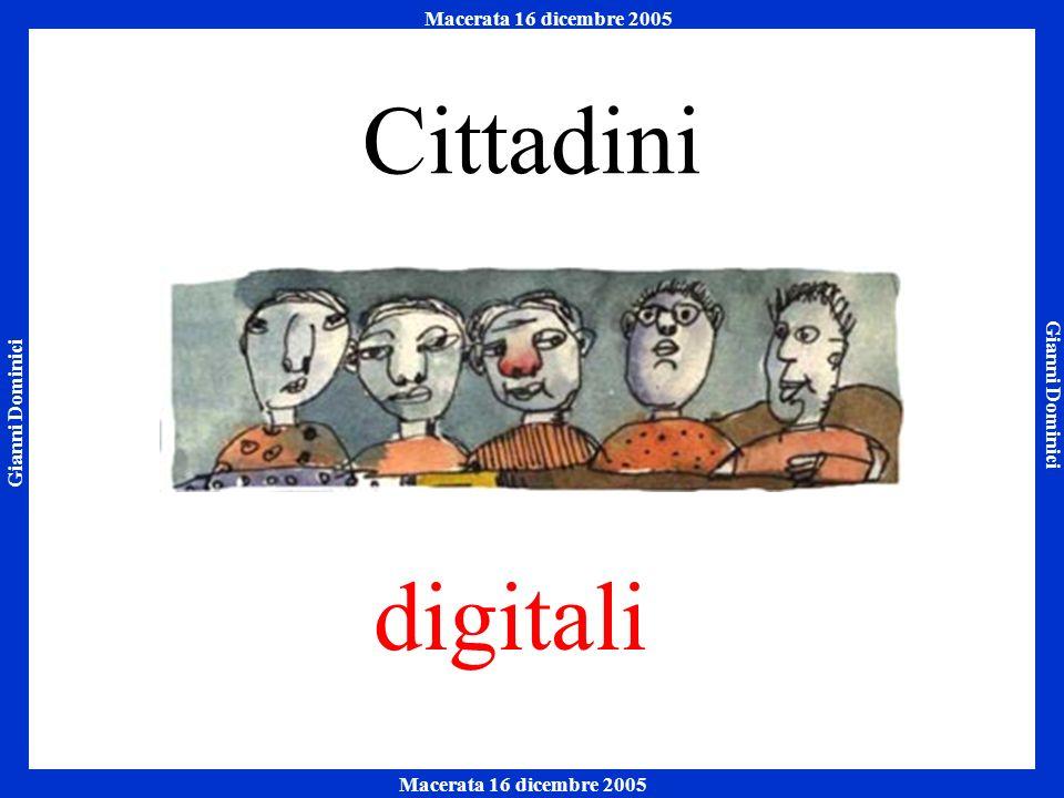 Gianni Dominici Macerata 16 dicembre 2005 Napoli 7 ottobre 2005 Macerata 16 dicembre 2005 I consumi tecnologici delle famiglie Fonte: Indagine Censis, 2005