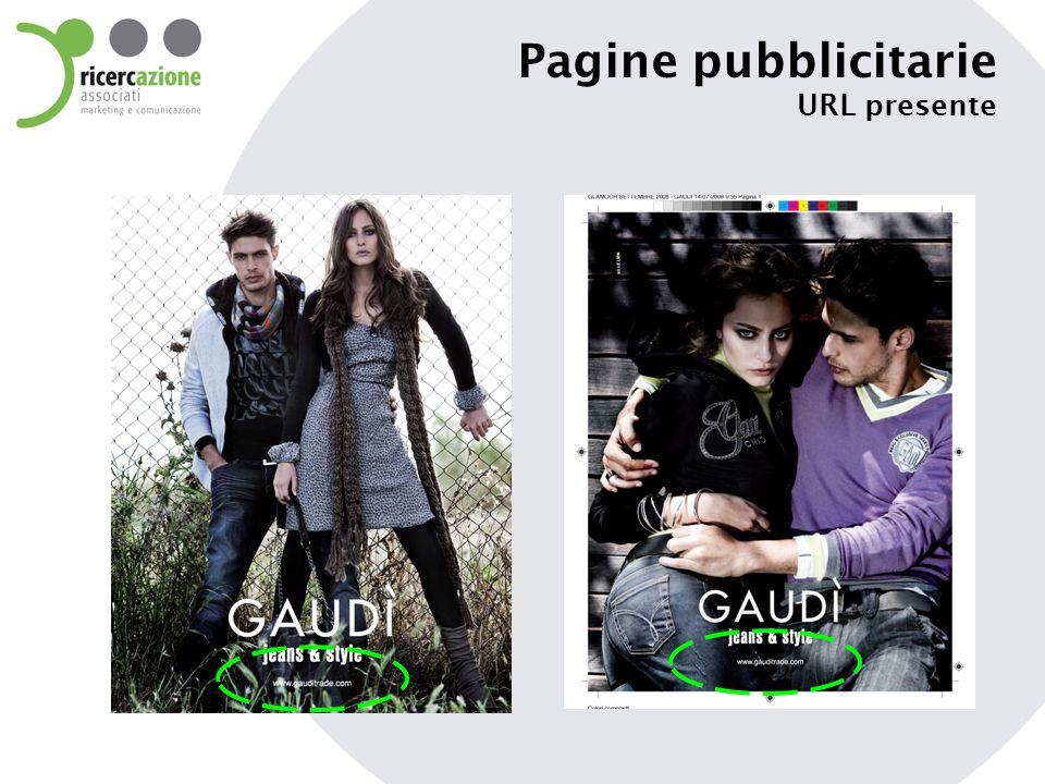 Pagine pubblicitarie URL presente