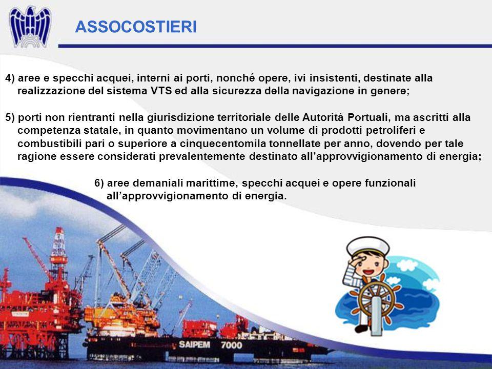 4) aree e specchi acquei, interni ai porti, nonché opere, ivi insistenti, destinate alla realizzazione del sistema VTS ed alla sicurezza della navigaz