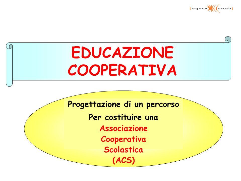 Progettazione di un percorso Per costituire una Associazione Cooperativa Scolastica (ACS) EDUCAZIONE COOPERATIVA