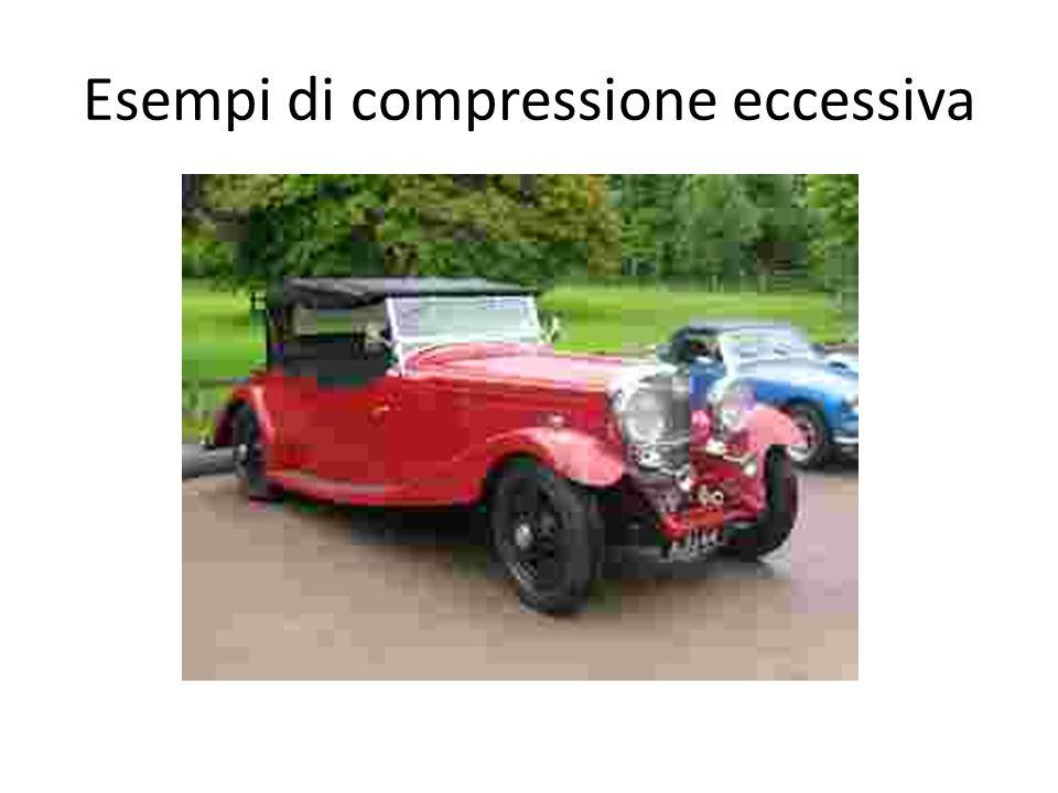 Esempi di compressione eccessiva