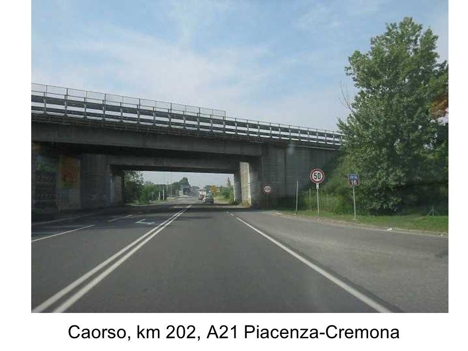 Caorso, km 202, A21 Piacenza-Cremona