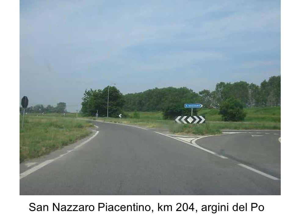 San Nazzaro Piacentino, km 204, argini del Po