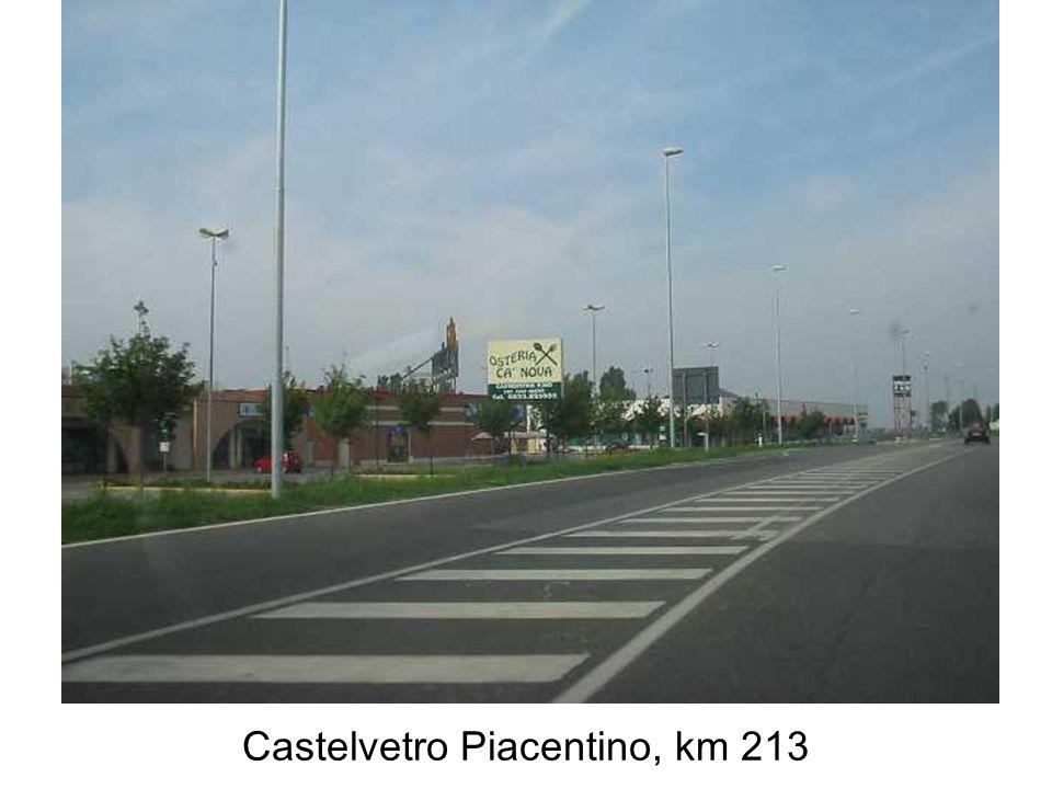 Castelvetro Piacentino, km 213