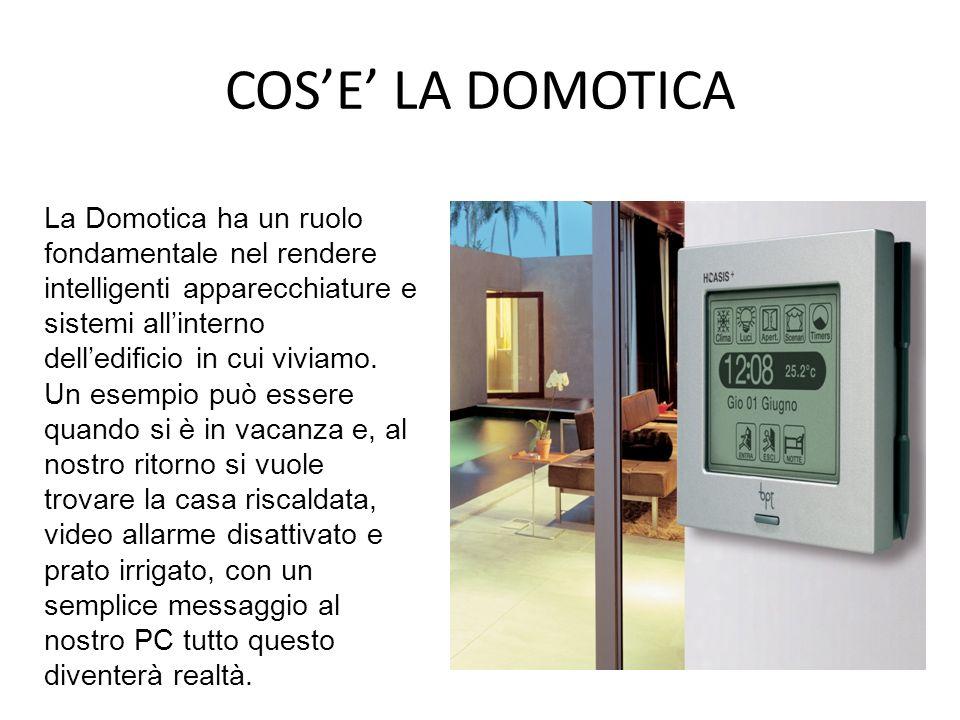 COSE LA DOMOTICA La Domotica ha un ruolo fondamentale nel rendere intelligenti apparecchiature e sistemi allinterno delledificio in cui viviamo. Un es
