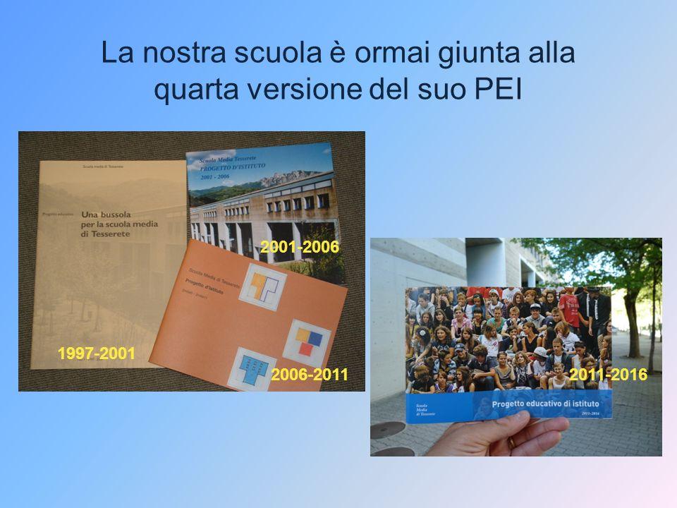 La nostra scuola è ormai giunta alla quarta versione del suo PEI 1997-2001 2001-2006 2006-20112011-2016