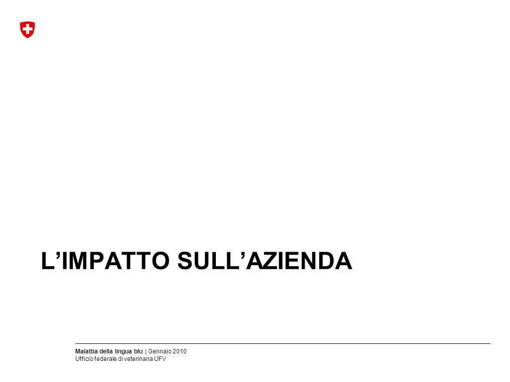 Malattia della lingua blu | Gennaio 2010 Ufficio federale di veterinaria UFV LIMPATTO SULLAZIENDA