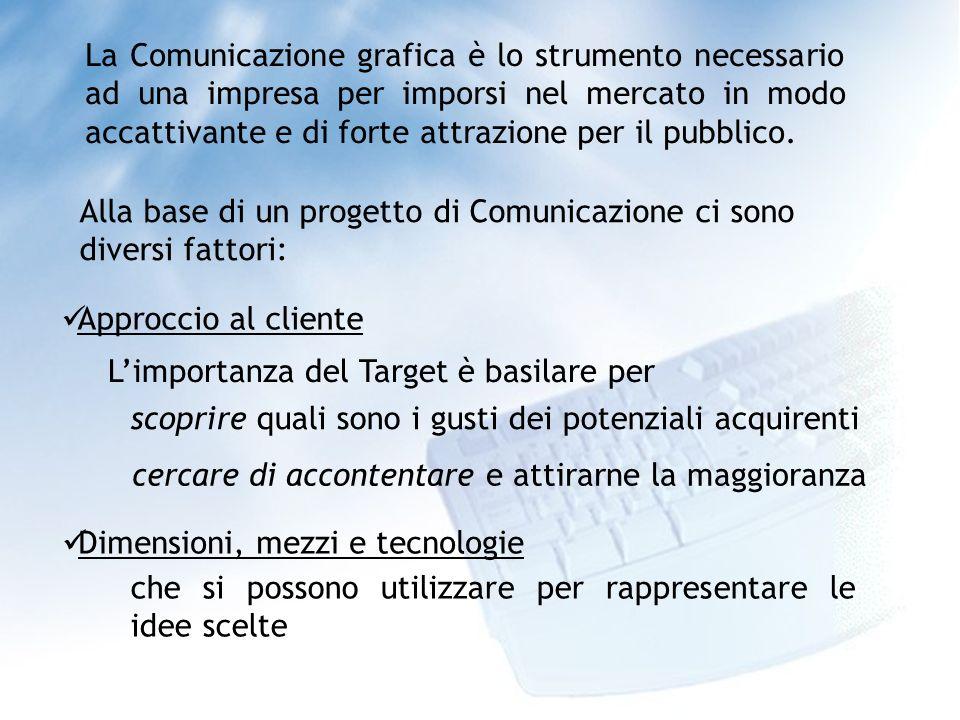 La Comunicazione grafica è lo strumento necessario ad una impresa per imporsi nel mercato in modo accattivante e di forte attrazione per il pubblico.