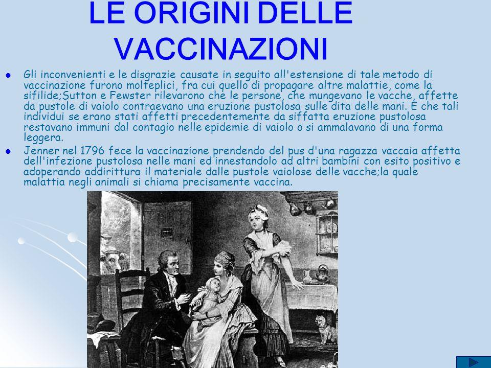 LE ORIGINI DELLE VACCINAZIONI Tucidide descrivendo la peste di Atene sosteneva che chi guariva dal morbo difficilmente si ammalava una seconda volta o