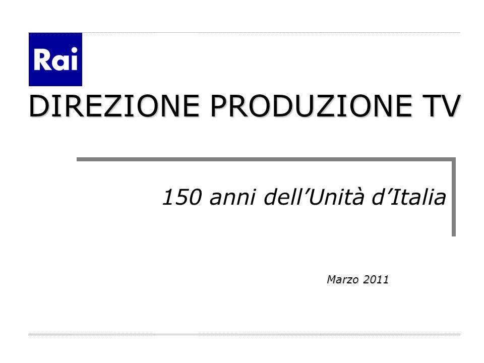 DIREZIONE PRODUZIONE TV 150 anni dellUnità dItalia Marzo 2011 Marzo 2011