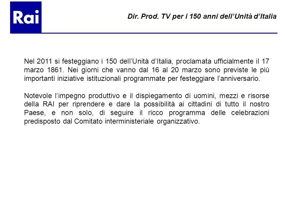 Nel 2011 si festeggiano i 150 dellUnità dItalia, proclamata ufficialmente il 17 marzo 1861. Nei giorni che vanno dal 16 al 20 marzo sono previste le p