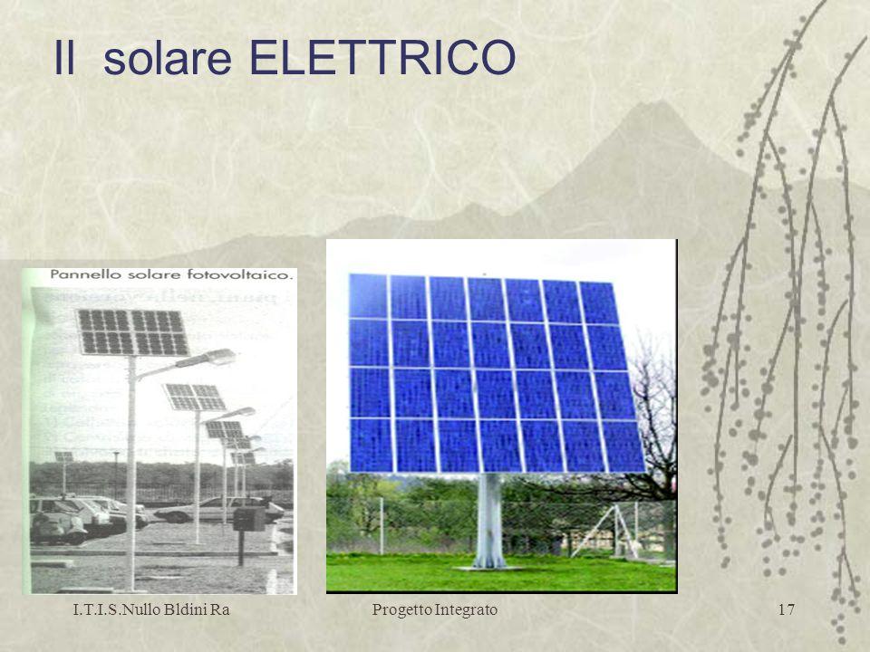 I.T.I.S.Nullo Bldini RaProgetto Integrato17 Il solare ELETTRICO