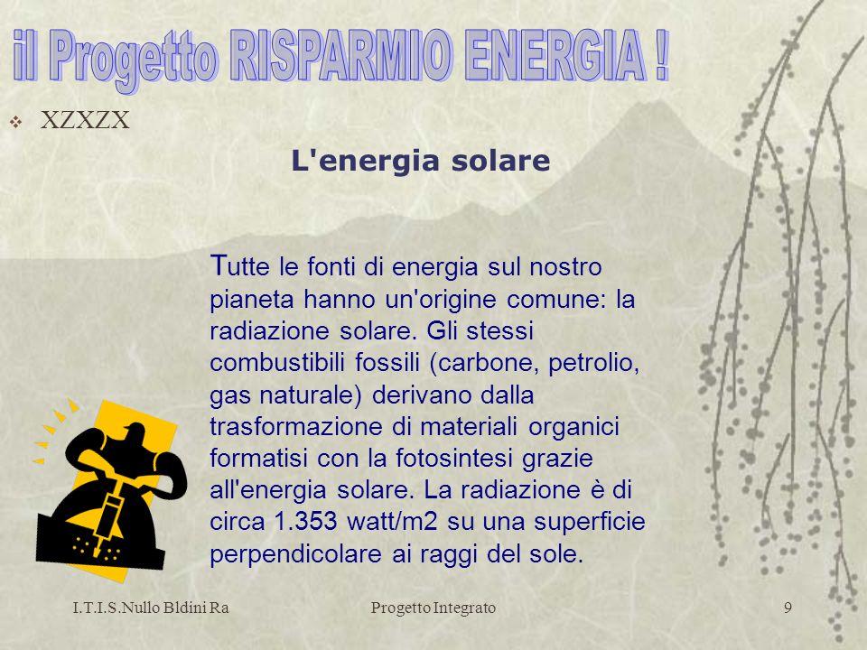 I.T.I.S.Nullo Bldini RaProgetto Integrato40