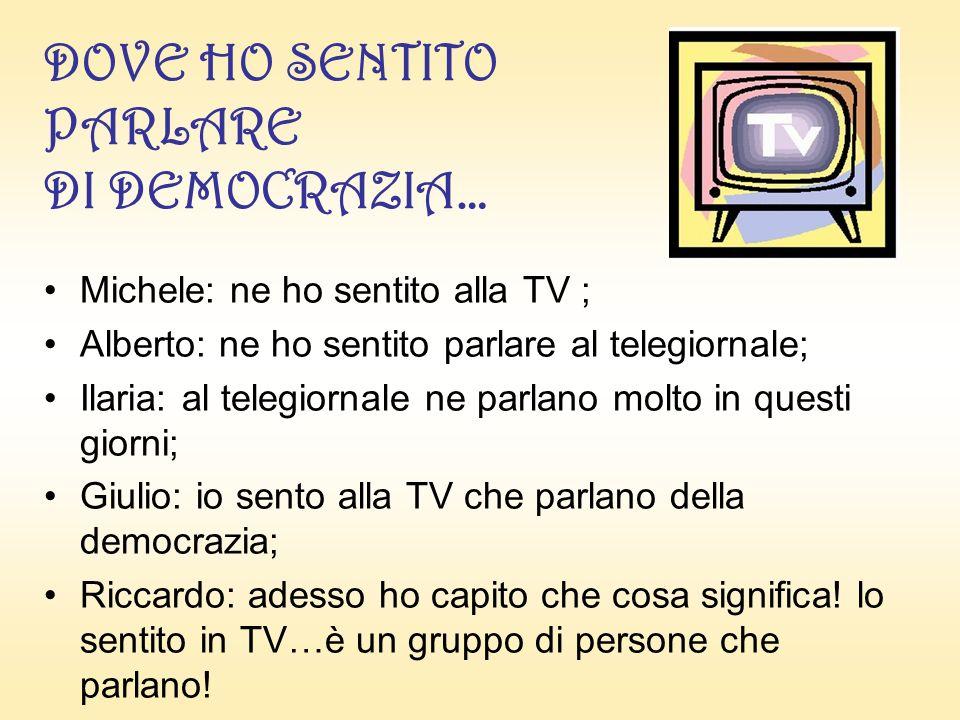 I NON SO SULLA DEMOCRAZIA!!.Anna, Giulio: Non lo so!.