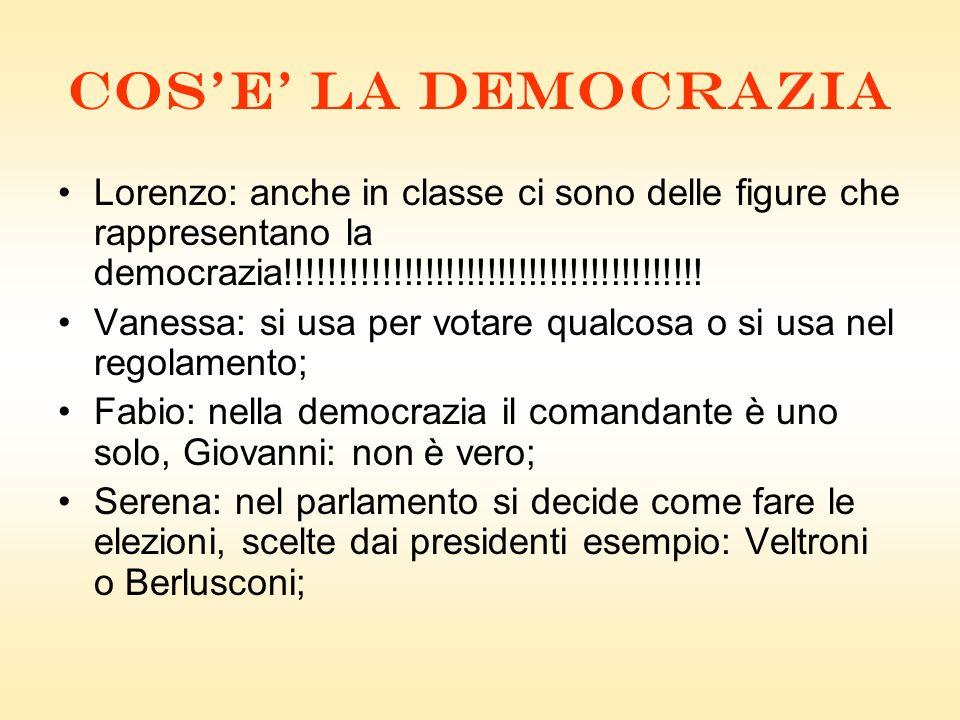 COSE LA DEMOCRAZIA Lorenzo: anche in classe ci sono delle figure che rappresentano la democrazia!!!!!!!!!!!!!!!!!!!!!!!!!!!!!!!!!!!!!!!.