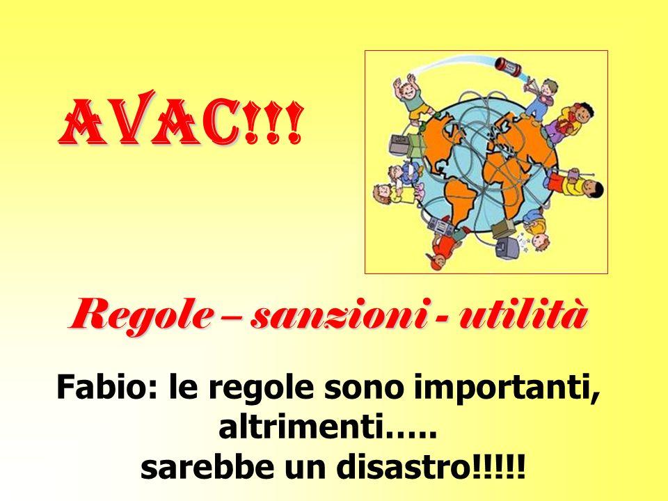 AVAC AVAC!!.Regole – sanzioni - utilità Fabio: le regole sono importanti, altrimenti…..
