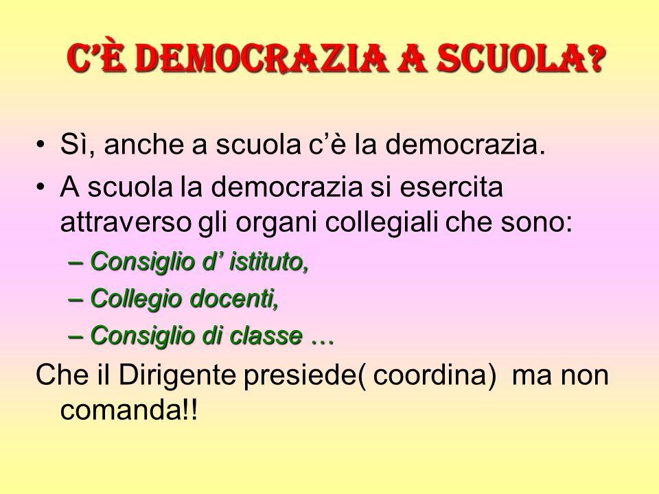 Cè democrazia a scuola.Sì, anche a scuola cè la democrazia.