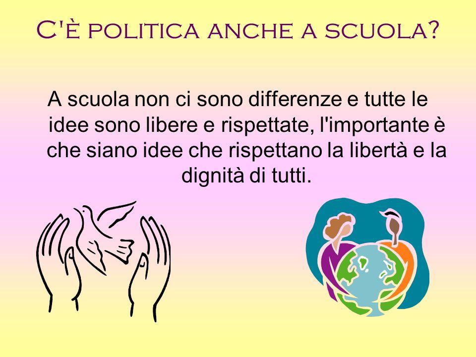 C è politica anche a scuola.