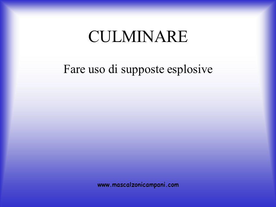 CULMINARE Fare uso di supposte esplosive www.mascalzonicampani.com