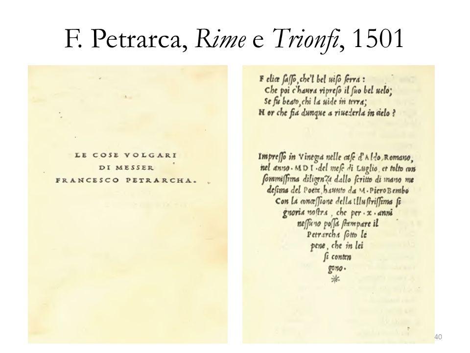 F. Petrarca, Rime e Trionfi, 1501 40