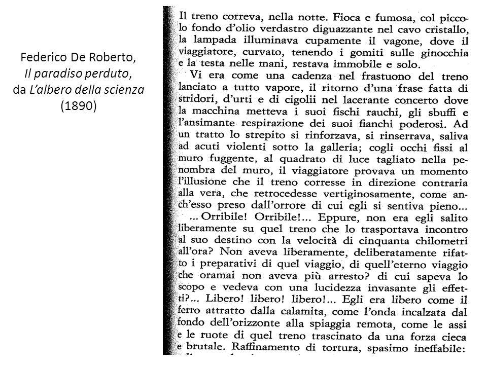 Federico De Roberto, Il paradiso perduto, da Lalbero della scienza (1890)