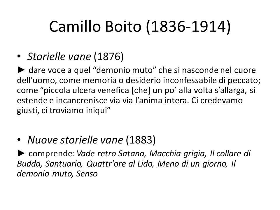 Camillo Boito (1836-1914) Storielle vane (1876) dare voce a quel demonio muto che si nasconde nel cuore delluomo, come memoria o desiderio inconfessab
