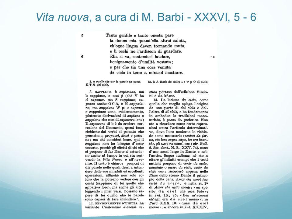 Vita nuova, a cura di M. Barbi - XXXVI, 5 - 6