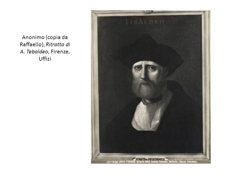 Anonimo (copia da Raffaello), Ritratto di A. Tebaldeo, Firenze, Uffizi
