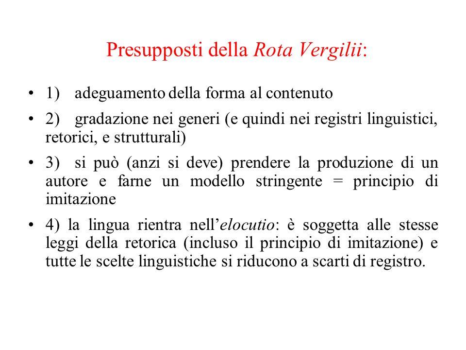 Rota Vergilii Eneide Georgiche Bucoliche sublime medio umile De vulgari eloquentia Canzone Ballata Sonetto Irregulares 1) inventio 2) dispositio 3) el