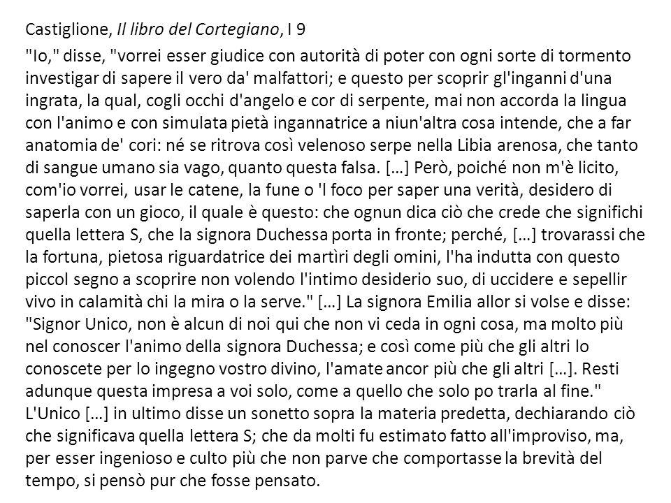 Castiglione, Il libro del Cortegiano, I 9