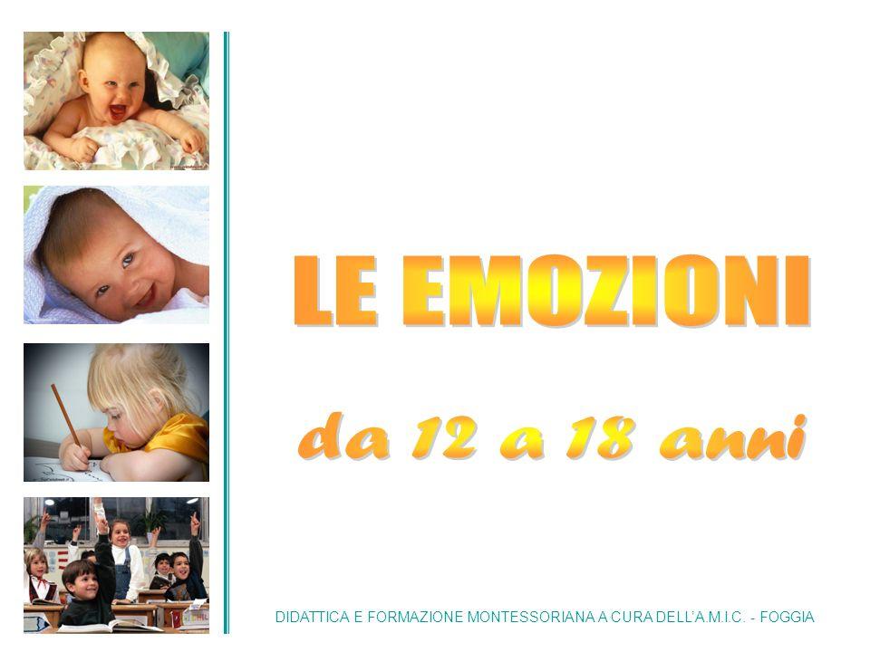 Nel periodo delladolescenza, che inizia a 12 anni, il bambino vive una nuova esperienza emozionale.